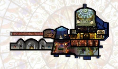 Overzicht van de tempel